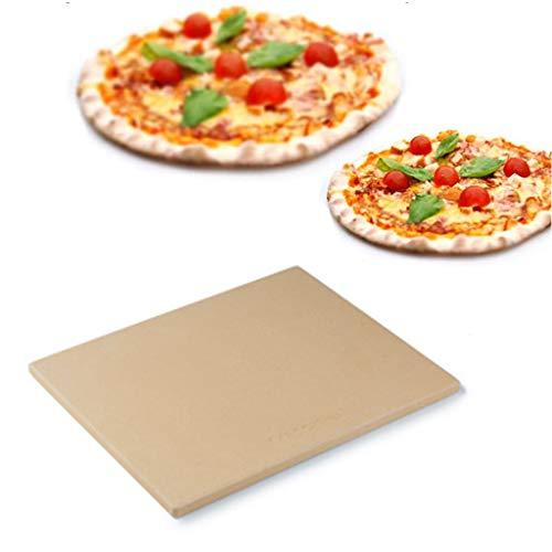 Sisyria Pizza-Stein Für Ofen Grill & BBQ, Heat & Schock Dissipation Pizzastone Für Eine Knusprige Kruste Auf Pizzas & Brot, Pizza Backen Stein 30 * 40 * 1.2Cm