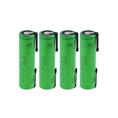 hsvgjsfa Batería De Litio US18650 VTC4 3.6v 2100mah, 30A Recargable De Alto Drenaje con Hoja De níQuel De Soldadura para Banco De Energía De Faro De Radio 4PCS