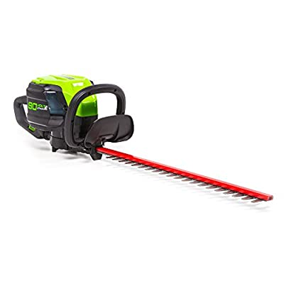 Greenworks Pro 80V 24-Inch Brushless Hedge Trimmer, Battery Not Included HT80L00
