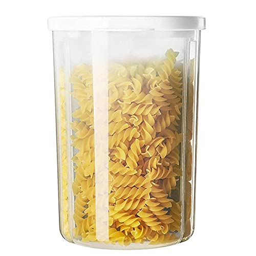 JJINPIXIU Storage Jars, Transparent Plastic Storage Box with 3 compartments, Storage Lager for Storing Pasta, Cereals, Sweets, Spices and Various Foods.