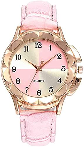 JZDH Mano Reloj Reloj de Pulsera Tio Reloj Relogiono Alloy Relojes de Lujo Moda Moda Moda Simple Mujeres Relojes Relojes Decorativos Casuales (Color : Pink)