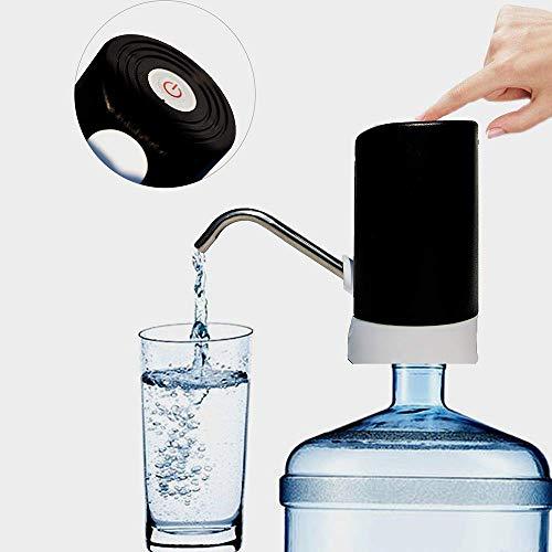 Tragbarer, kabelloser Automatischer Universal-Trinkwasserspender, Wasserpumpe, geeignet für Wasserflaschen, 4,5/5/10/11,3/15/18,9 l, USB-Ladeanschlussschalter für Küche, Büro, Camping, wiederaufladbar