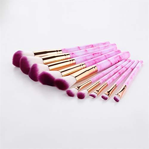 LIANMIBA Kosmetika 10/5 stücke Make-up Pinsel Set Kosmetikpulver Eye Shadow Foundation Blush Blending Schönheit Make-up (Handle Color : 10Pcs Rose)