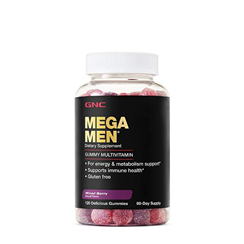 GNC Mega Men Gummy Multivitamin - Mixed Berry