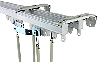 Rod Desyne Commercial Wall/Ceiling Double Curtain Track Kit