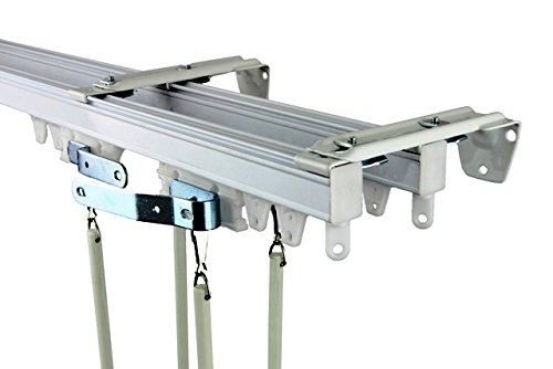 Rod Desyne Commercial Wall Ceiling Double Curtain Track Kit 5ft