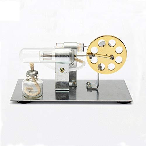 Lommer Stirlingmotor Bausatz, DIY Metall Stirling Motor Generator Modell Stromgenerator Motor, Physisches Experiment Geschenk für Technikbegeisterte und Kinder