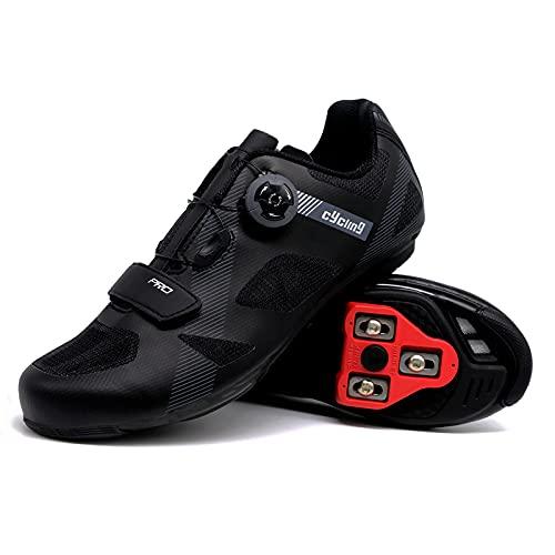 Peloton Cycling Bike Shoes Men Women Spin Shoes Premium Unisex Indoor Cycling Shoes with Cleats Comfortable Mountain Bike Shoes Bike Footwear Black