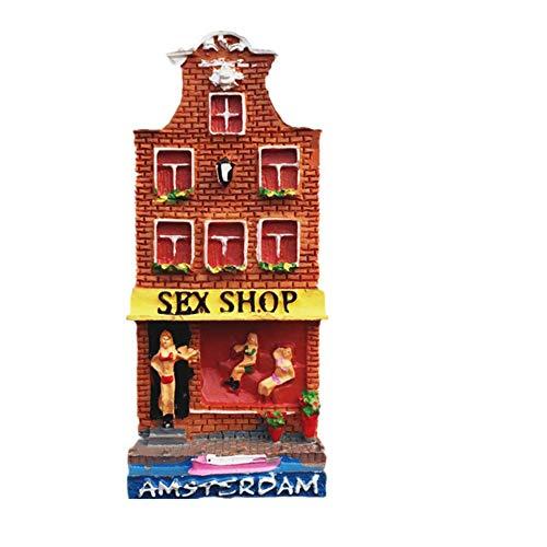 3D Amsterdam Netherlands Imán de nevera Regalo de recuerdo Decoración de Refrigerador Adhesivo Magnético