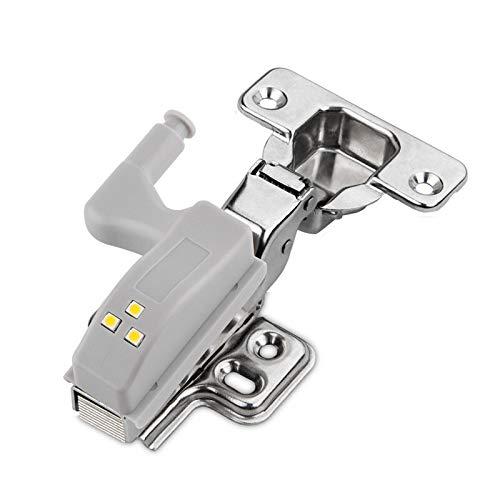 Guiping Hardware door lock 10Pcs LED Sensor Hinge Light Under Cabinet Light Cupboard Inner Hinge Lamp for Wardrobe Closet Kitchen Night Light (Color : Warm Light)