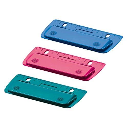 3 Herlitz Taschenlocher / Mini Locher / abheftbar / 3 verschiedene Farben