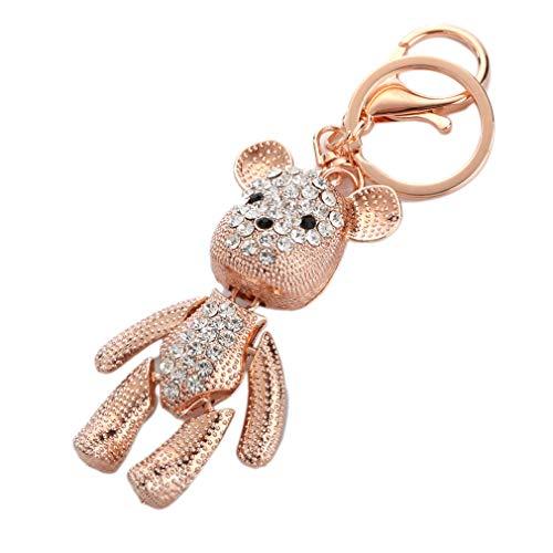 Sleutelhanger zakhanger strass Keychain glitter kristal wijnglas metaal autohanger, sleutelring handtas hanger decor Keychain als geschenk (wit)