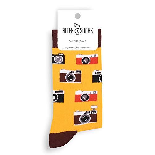 Altersocks - Calcetines Unisex de fantasía y colores de algodón, talla única (36 a 45), modelo Foto