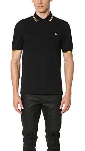 Fred Perry M3600, Polo Para Hombre, Negro (Black/Yellow), X-Large