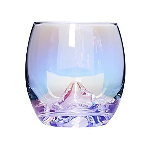 1 Piezas De Gafas Coloridas Taza De Taza De Taza De Taza De Taza De Arco Iris Creativa De Agua con Leche De Vidrio De Cerveza, Día De San Valentín, Cumpleaños Y Navida(Color:A)
