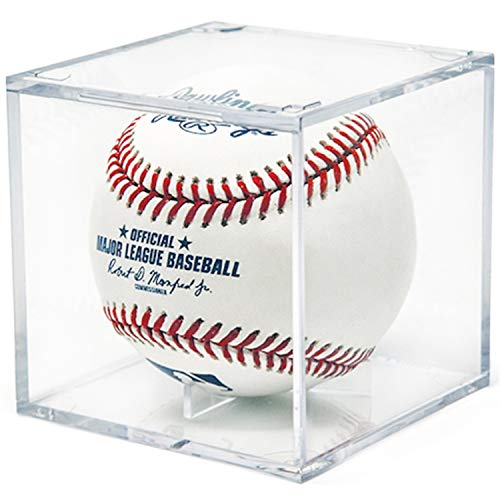 "Locks up to 12/"" Ball 14 Soft Ball Softball Display Case Stand Cabinet w//98/% UV"