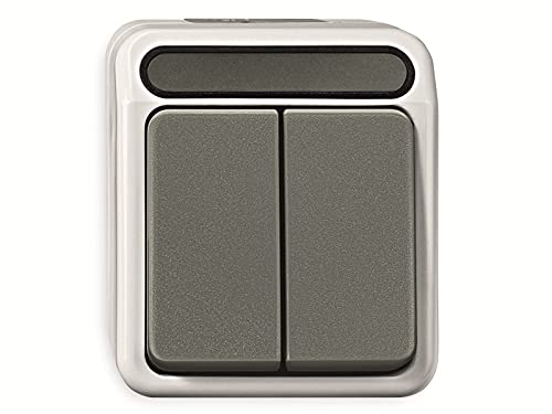 Merten MEG3115-8029 1polig Serienschalter, 1-polig, lichtgrau, AQUASTAR