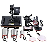 MuGuang 8 in 1 Hitze Presse Maschine digitale Übertragung Sublimation Becher T-Shirt Platte Kappe Hut heat press machine 15'X12'