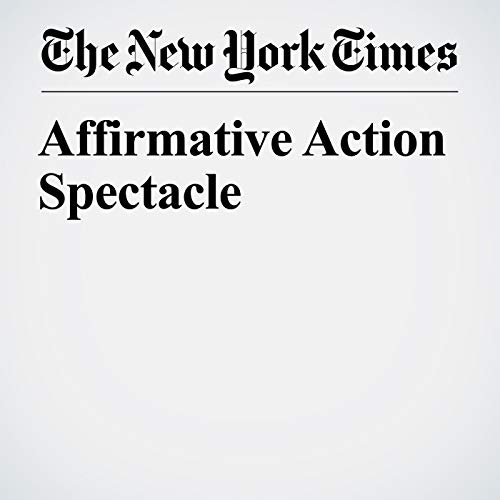 Affirmative Action Spectacle copertina