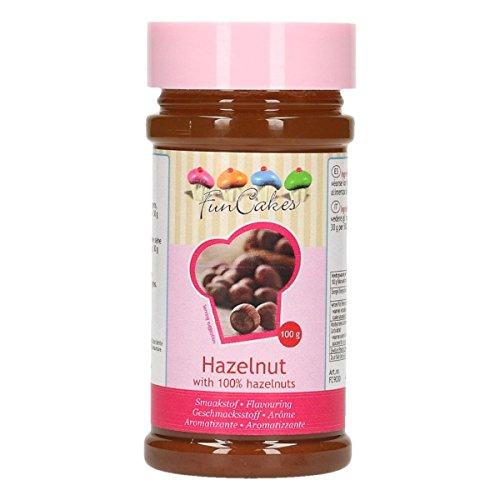FunCakes Aroma de Avellana de FunCakes: Aromas Alimentarios, Gran Sabor, Perfecto para Decorar Pasteles, Adecuado para Masas y Rellenos. 100 g