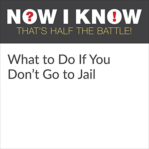 What to Do If You Don't Go to Jail audiobook cover art