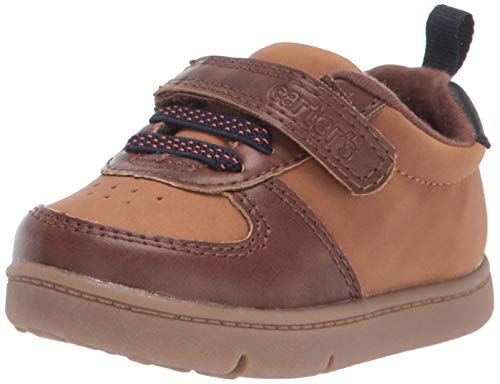 Carter's Every Step Baby-Boy's Kyle Fashion Sneaker First Walker Shoe, Brown, 4 M US Toddler