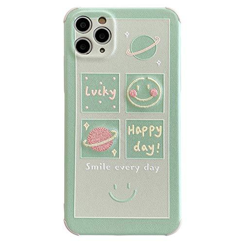 JSJE Funda telefónica, Funda Protectora del teléfono Smiley, Adecuado para iPhone11pro / 7 / 8plus Soft Throckproom Parachoques, 4 Esquinas Anti-caídas Gruesas, Concha he A-iPhone X