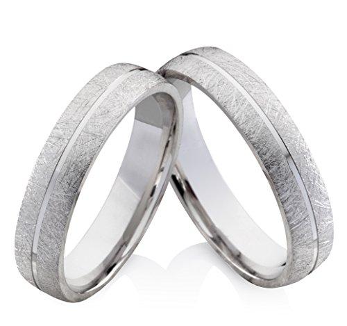 Eheringe Verlobungsringe Trauringe aus 925 Silber ohne Stein mit Gravur SO37