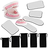 5 Pieces Dental Mouth Mirror Occlusal Reflector Mirror Intraoral Photography Mirror 2 Sided Dental...
