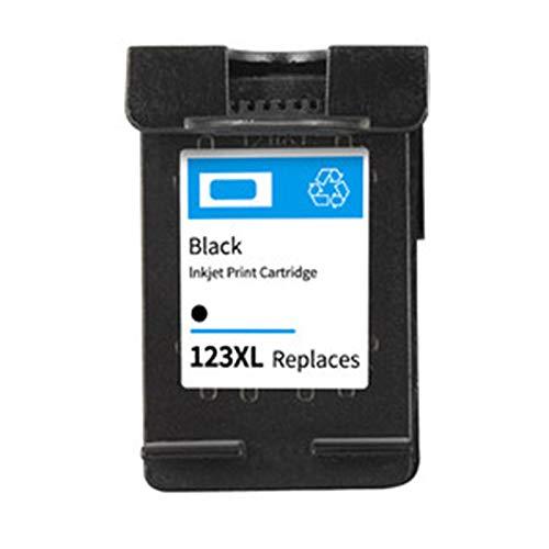 Cartucho de tinta 123XL, adecuado para impresora HP OfficeJet 4655 1110 1111 1112 2130 todo en uno, chip inteligente, 600 páginas negro