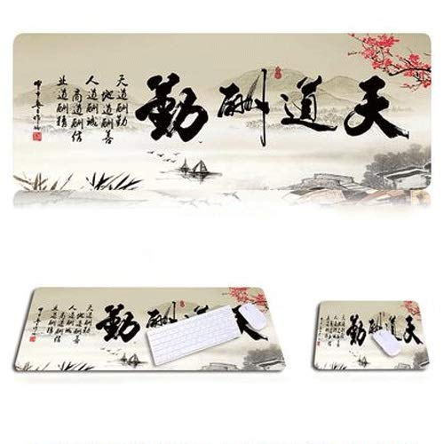 Xfwj Mouse Pad Chinese Style 2019 Laatste Foto Van meerdere tekens Anime Lovers Collection Computer Mouse Pad Muis en toetsenbord accessoires Desk Pad (Size : 800 * 300)