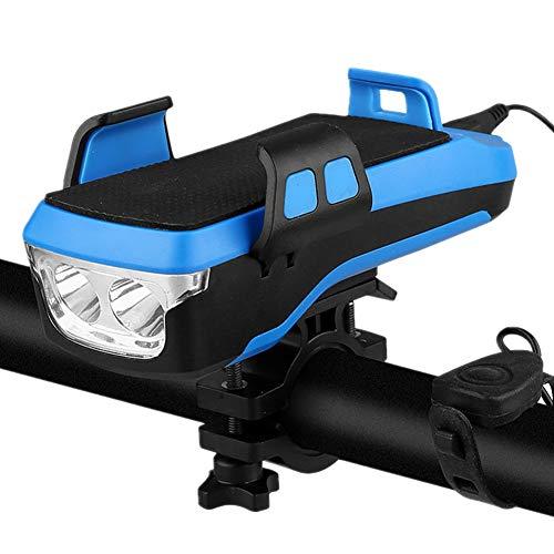Luces Bicicleta Delantera Y Trasera Focos para Bicicletas Luces Led Bicicleta Delantera Y Trasera Bicicleta Electrica Adulto por Equipo De Ciclismo Blue,4000ma