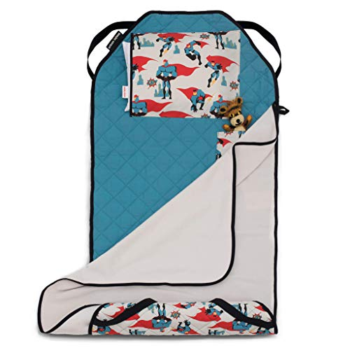 Urban Infant Tot Cot All-in-One Modern Preschool/Daycare Nap Mat with Washable Pillow and Elastic Straps - Urban Dude