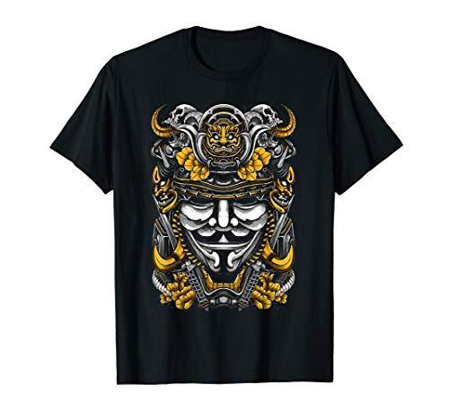 Samurai Maske Bushido Outfit Samuraischwert Helm T-Shirt