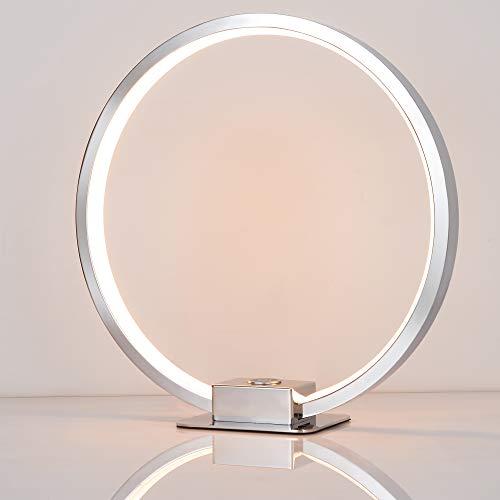 SparkSOR LED tafellamp cirkel bureaulamp Touch dimbaar rond Aura vorm en touch-dimmer brengt scifictic sfeer in de kamer