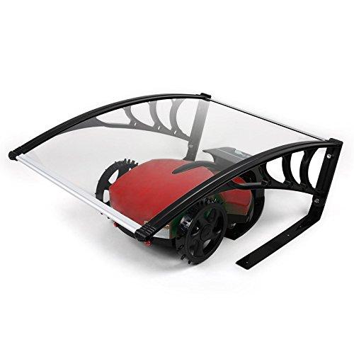 LZQ Mähroboter Garage Carport Rasenmäher Dach für Rasenroboter Rasenmäher, 103 cm x 77 cm x 45cm Überdachung Pultbogenvordach Schutz vor Regen, Hagel und UV-Strahlen