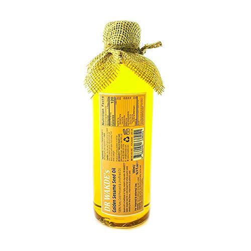L'huile de sésame doré de DR WAKDE | 500 ml / 16,9 fl. oz | 100% Pure, Huile Vierge | Pressé à froid, non raffiné | Pour usage interne et externe | Prix dégressifs | Expédition le jour même