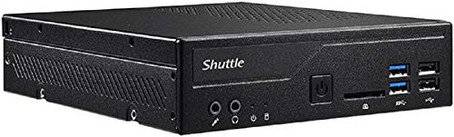 SHUTTLE Barebone XPC Slim DH310V schwarz Intel S1151V2 2 x 16GB SO-DIMM DDR4-2666 4+4+0 4X USB3 1x HDMI 1x DP 1x VGA Opt.