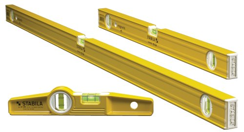 Stabila 29924-3 Level Magnetic Pro-Set Includes 48-inch, 24-inch and Die-cast Torpedo with Rare Earth Magnets