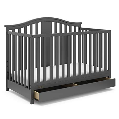 Graco Solano 4 in 1 Convertible Crib w/Drawer - Gray