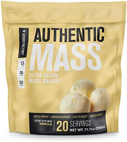 Authentic Mass Gainer Clean Weight Gainer Protein Powder for Lean Muscle Growth Muscle Building product image