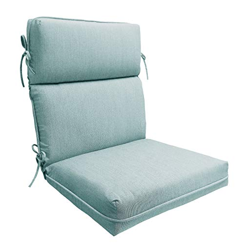Suntastic Outdoor/Indoor High Back Dining Chair Cushion for Patio Furniture, 44' x 21' x 4', Spa