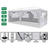 Laiozyen Gazebo 3mx6m, Tente de pavillon Pliable imperméable à l'eau, Tente de pavillon Pliante...