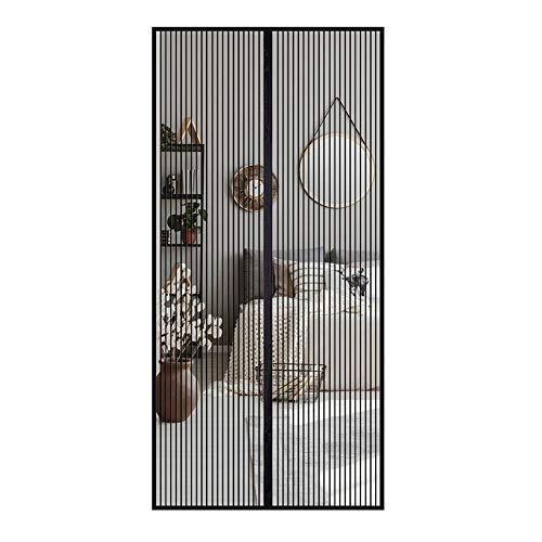 Fliegengitter Tür Insektenschutz Moskitonetz Magnets Fliegenvorhang Balkontür Automatisch schließende Insektennetz Fliegennetz für die Kellertür Terrassentür,ohne Bohren 140X235cm (Schwarz)