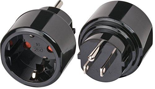 Brennenstuhl 1508550 Protección de Contacto Adaptador de Viaje (15 A 250 V) Adapter USA (1)