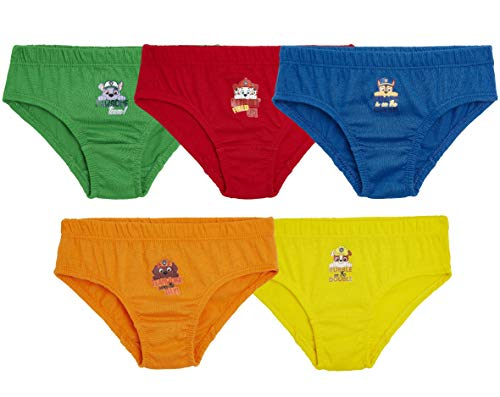 Paw Patrol Boys Pants, Pack of 5 Briefs With Mighty Pups Print Marshall...