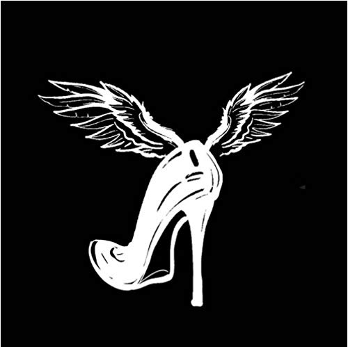 GenericBrands 5 Piezas Pegatina para Coche 15,9 * 14 CM Zapatos de tacón Alto Fly Vinilo Pegatina para Coche calcomanía Blanca