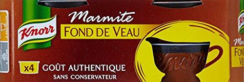 Knorr Marmite Fond de Veau 4 Capsules 112g - Lot de 4