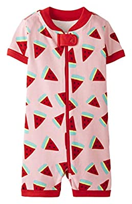 Hanna Andersson Shortie Sleeper in Organic Cotton Watermelons - 75