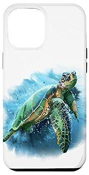 iPhone 12 Pro Max Sea Turtle Tortoise Aqua Teal Turquoise Blue White AEQ042 Case